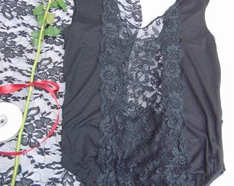 SALE Black organic cotton élastic body