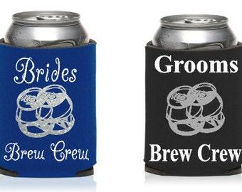 Brides Brew Crew Custom KOOZIE®, or can holder, Bachelorette party KOOZIE®, Bachelor party KOOZIE®