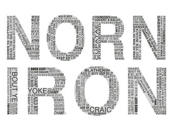 Norn iron - Northern Irish Slang - Northern Irish Language - Downloadable Funny Northern Ireland Language **Some are rude!**