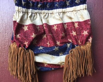 Fourth of July fringe bloomers
