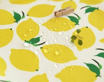 Waterproof Fabric Lemon By The Yard
