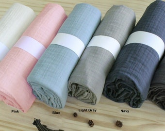 Crinkled Triple Gauze Fabric in 6 Colors By The Yard