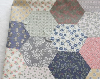 Laminated Cotton Fabric Hexagon By The Yard