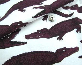 Cotton Jersey Knit Fabric Purple Crocodile By The Yard