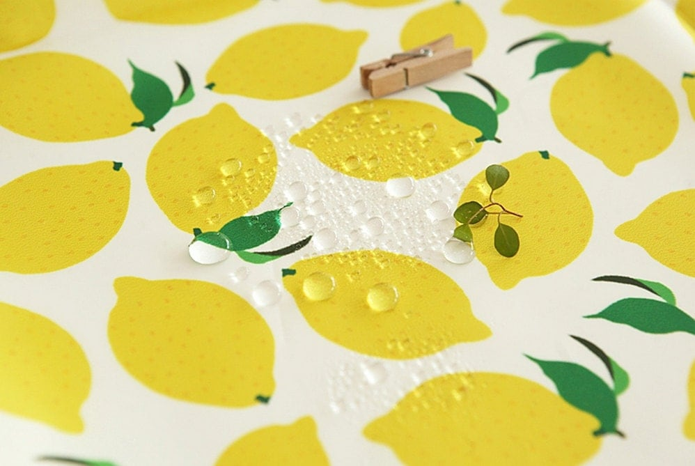 waterproof fabric lemon by the yard. Black Bedroom Furniture Sets. Home Design Ideas