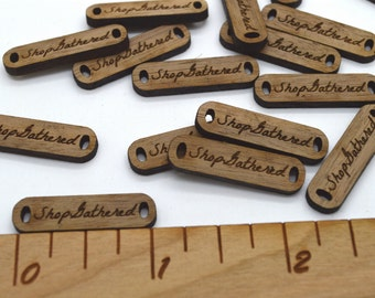 Product Tags - Customized with your text - 0.3 x 1.1 Inch - laser cut and engraved