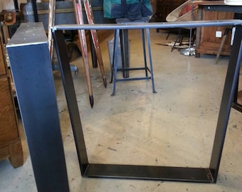 Steel dining table legs/base