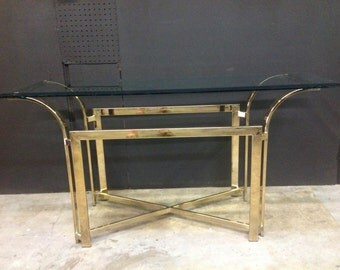 DIA Style Brass Console Table