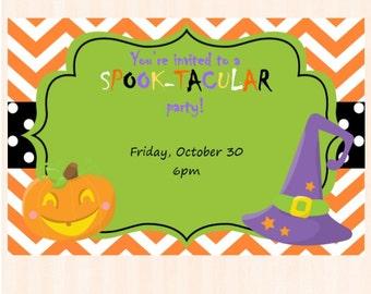 Halloween Party Invitation - Halloween Invitation - Halloween Invite - Kids Halloween Party - Printable Halloween Party Invitation