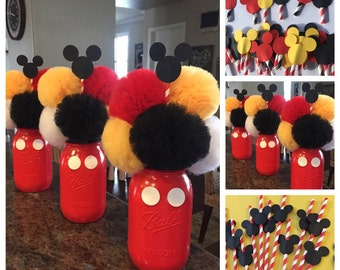 Mickey Mouse Inspired Birthday Decorations!