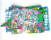 Vintage Fabric, Scrap Pack, Vintage Floral Fabric, Vintage Wedding, DIY Wedding, Fabric Remnants.
