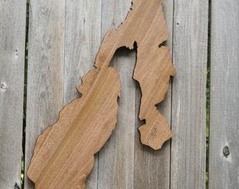 Payette Lake, Idaho wood silhouette, Stained Dark Honey