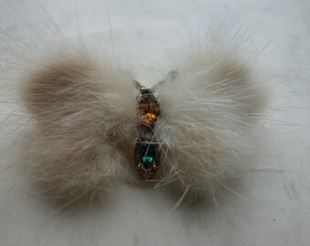 1950s small mink butterfly was 8.50 NOW 5.00