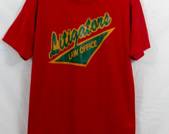 Vintage Thin/Soft Lawyer Softball Team Litigators T-Shirt