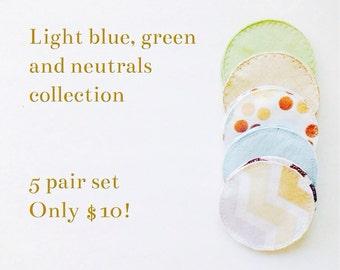 Cloth nursing pads, eco friendly nursing pads, maternity, breast feeding, flannel fabric nursing pads