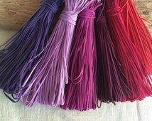 Soutache braid cord 2,5 mm jewelry making gimp for beading sewing quilting lilac violet orchid aubergine fuchsia