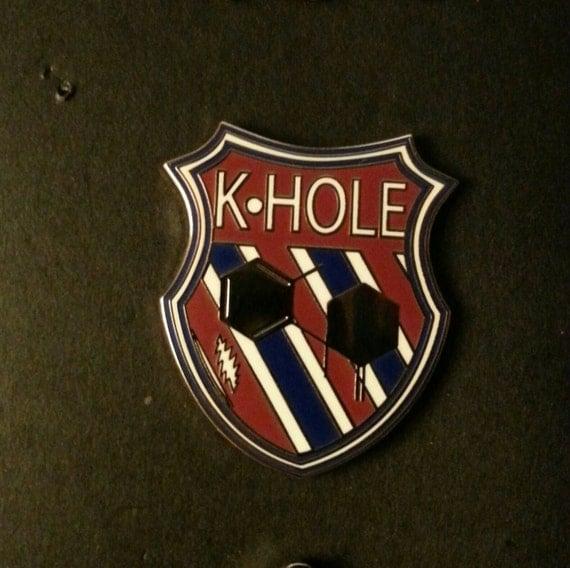 k hole ketamine parody drug lapel hat pin by familyartcollective. Black Bedroom Furniture Sets. Home Design Ideas