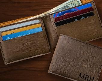 Monogrammed Wallet - Personalized Dark Brown Wallet - Brown Wallet - Wallet for him - Gifts for him - Groomsmen Gifts - GC1327 darkbrown