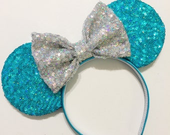 Twinkle Turquoise Sequin Mouse Ears