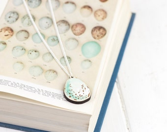Robins Egg | Birds Egg Necklace | Egg Watercolour Illustration