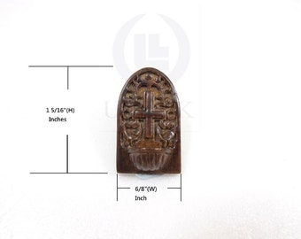 Miniature 1:12 Scale Holy Water Font For Doll House [Finished in dark walnut]