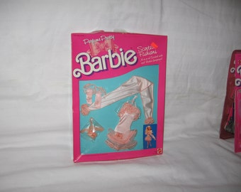 vintage 1987 mattel barbie scented fashions outfit #4624