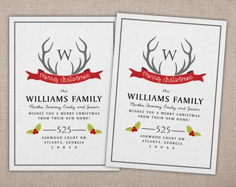 Christmas Moving Announcement - Printable Card