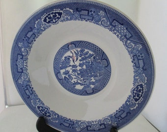 Beautiful Asian Blue Willow Serving Bowl Blue Transferware China Blue Willow China Bowl Blue White China Blue transferware bowl