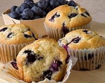 JUMBO Blueberry Muffins/Homemade/12 ct. / Gluten Free/Sugar Free/Vegan Options/Edible Gifts/Muffin Basket