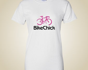 Women's bicycle t shirt - BikeChick Logo