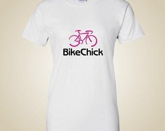 Women's bicycle t shirt - BikeChick Logo