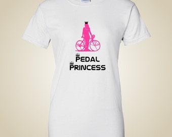 Women's bicycle t shirt Pedal Princess