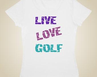 Women's golf shirt - LIVE LOVE GOLF