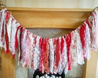 Christmas TattyBunting, Christmaas photo prop, bunting,UK Seller