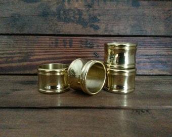 Vintage Brass Napkin Rings S/4