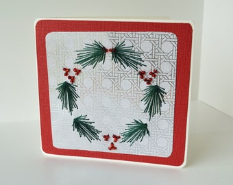 Wreath card. Christmas card