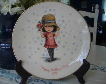 1974 Mother's Day Moppets Collectible Plate, Gorham Porcelain