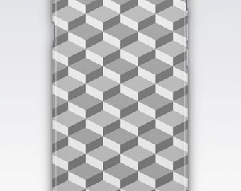 Case for iPhone 8, iPhone 6s,  iPhone 6 Plus,  iPhone 5s,  iPhone SE,  iPhone 5c,  iPhone 7,  Grey Geometric Patterned iPhone