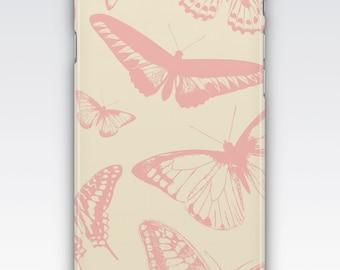 Case for iPhone 8, iPhone 6s,  iPhone 6 Plus,  iPhone 5s,  iPhone SE,  iPhone 5c,  iPhone 7,  Pink Butterflies Design iPhone