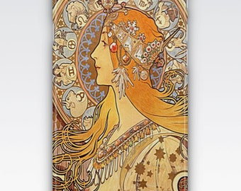 Case for iPhone 8, iPhone 6s,  iPhone 6 Plus,  iPhone 5s,  iPhone SE,  iPhone 5c,  iPhone 7  - Zodiac by Alphonse Mucha