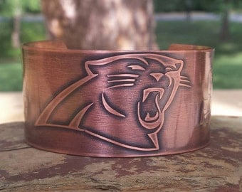 Etched Copper Cuff- Customize you Cuff with Your Favorite Team
