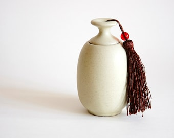 The Simple Khaki Ceramic Storage Jar, Tea pot, storage, Jar