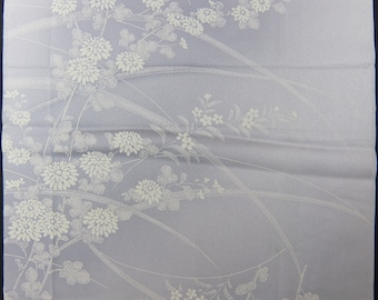 "13.8 ""w. x 14.2 ""l. Vintage kimono silk fabric-chrysanthemum2733E"