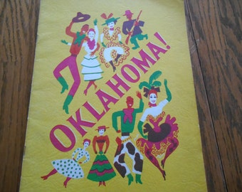 Oklahoma! Theater Program from the National Company Production, 1940's Great Information on Musical, Costuming, Nice Theater Collectible