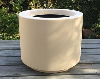 Midcentury modern  architectural fiberglass planter