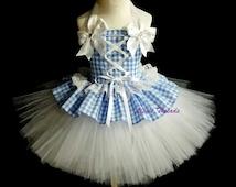 Dorothy Costume 2/ Halloween Costume, girls photo drop, Dorothy birthday dress