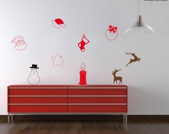 Christmas Sticker Santa and Friends