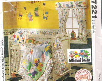 BABY ROOM ESSENTIALS Sewing Pattern McCall's 7221 Home Decorating