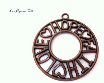 1 charm LOVE HOPE FAITH