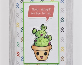 Cactus poster wall art, kawaii art, baby nursery decor, kids room, room decor, custom